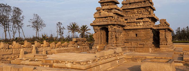South India : Rivage Temple Mahabalipuram Tamil Nadu