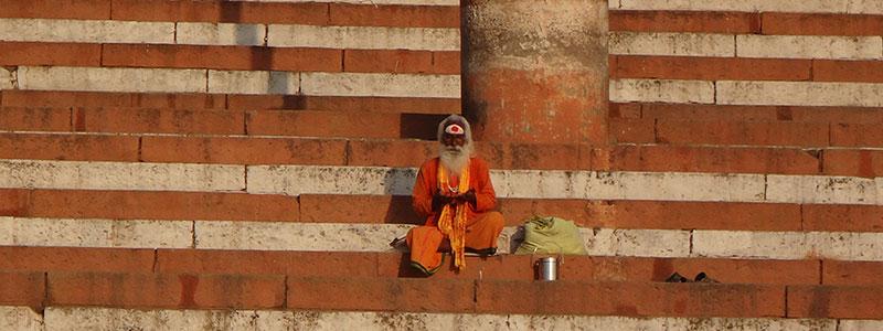 Voyage en Inde : Saddhu Indien Varanasi